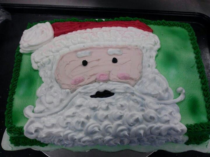 Sheet Cake with Santa Claus... Christmas | Cake Decorating ...