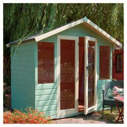 Buy Mercia 7x5 Summerhouse 12mm with Fully glazed doors - exclusive from our Summerhouses & Cabins range - Tesco.com