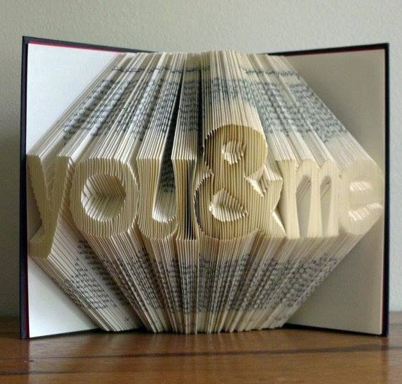 Cleverly folded pages in a book.
