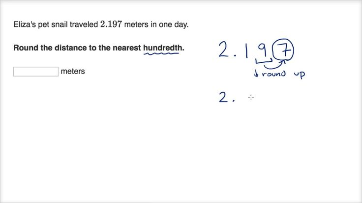 A YouTube video from Khan Academy: Rounding to the nearest tenth and hundredth #learn