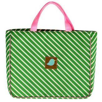Jaq Jaq Bird Kelly Stripe Tote Bag