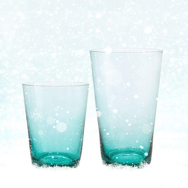 Bleu givrés, les verres Devon se la jouent Reine de neige... Une délicate attention à petit prix. Dès 5€