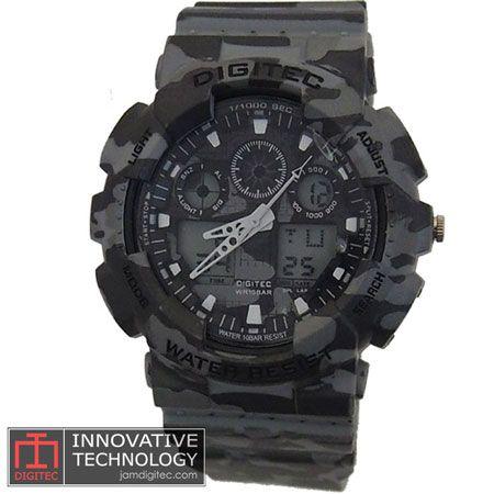 jam tangan digitec DG-2072T loreng army grey