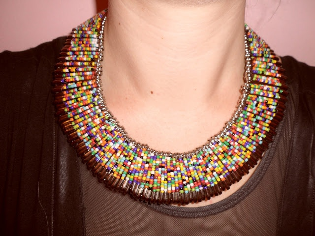 312style: I DIY FOR: Safety Pin Necklace
