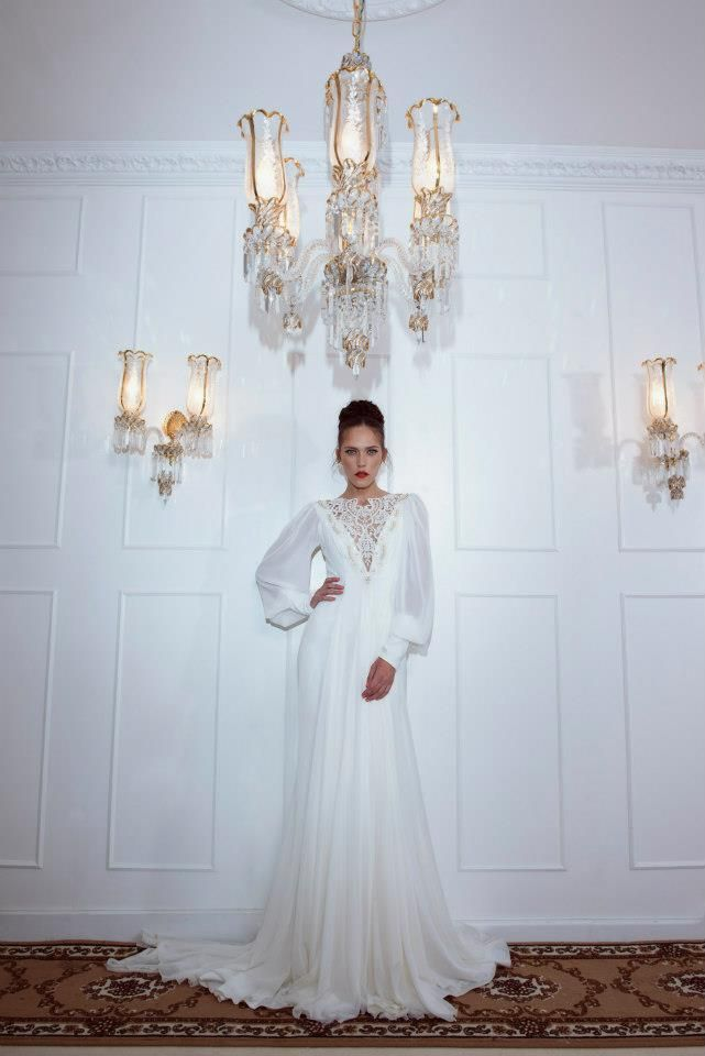 Romantic And Fashionable Wedding #modest #wedding #sleeves #lace #bridal #gowns