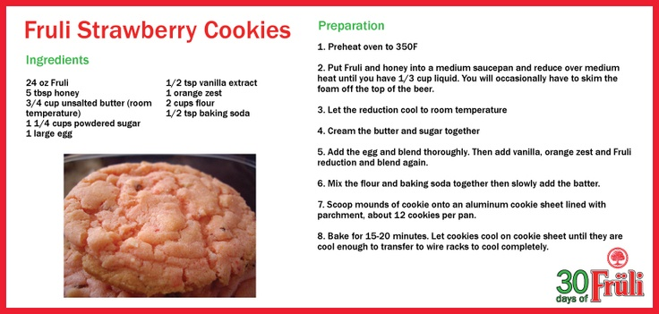 Cooking with Beer: Fruli Strawberry Cookies