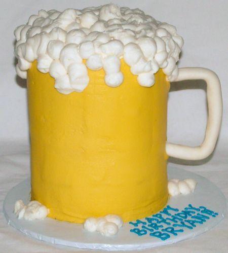 Beer Cake: Round Cakes, Cakes Cupcakes Ideas, Beer Cakes, Beer Mugs Cakes, Cakes Decor, Birthday Cakes, Sweet Cakes, A Guys Who, Birthday Ideas