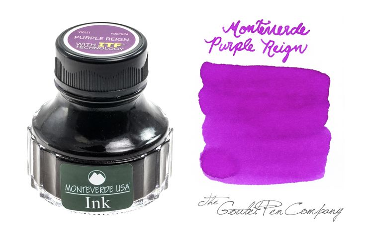 90ml bottle of Monteverde Purple Reign fountain pen ink.