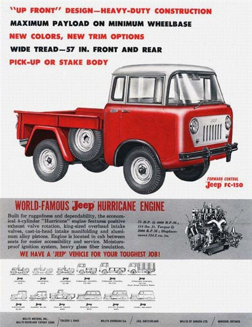 FC Print Ads - Jeep FC-150 | 1959 Forward Control | Willys Motors Inc.