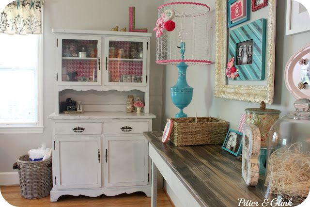 very pretty light studio: Chicken Wire, Room Ideas, Big Reveal, Room Makeovers, Lampshade, Craft Rooms, Crafts