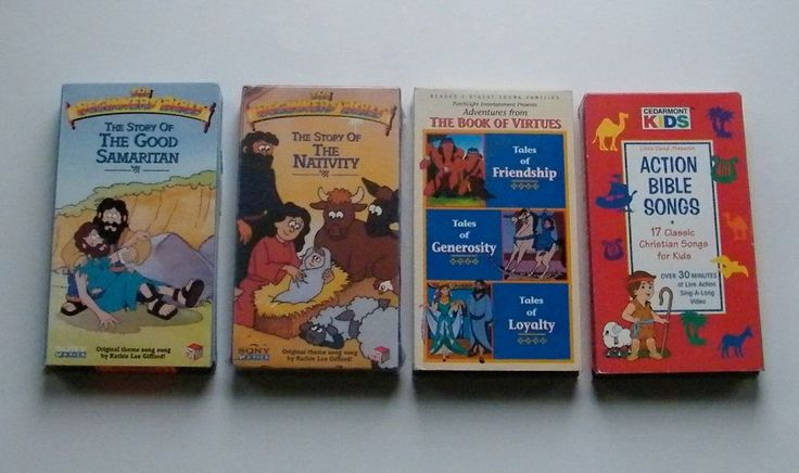 The Book of Virtues Story of the Nativity Good Samaritan Action Bible Songs VHS