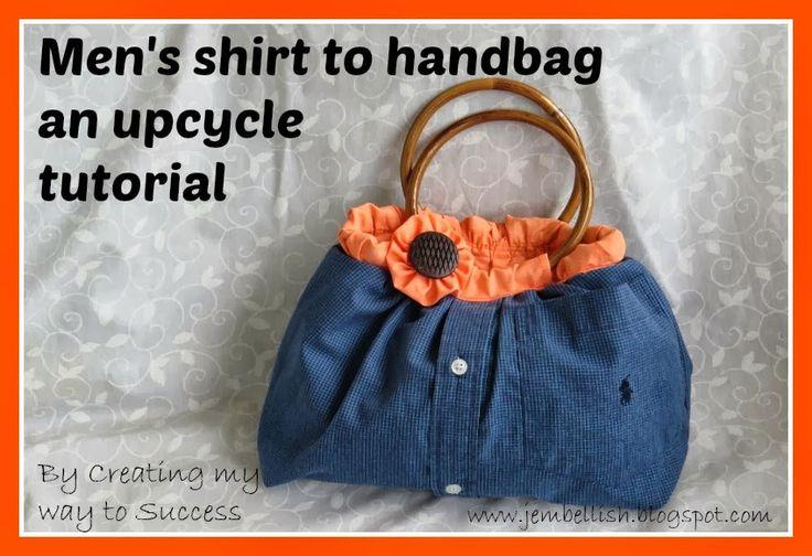 How to upcycle a men's shirt into a pretty handbag