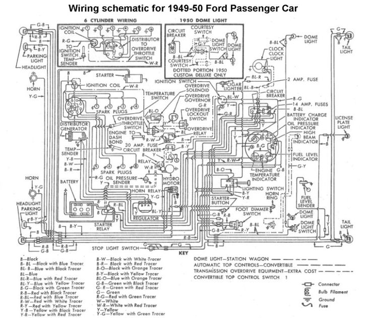 110 Volt Heater Switch Wiring Diagram Wiring For 1949 50 Ford Car Ford 1949 50 51 Ford