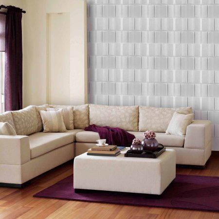 Donny Osmond Home 3D Self Adhesive Wall Tiles, Blocks, Multicolor