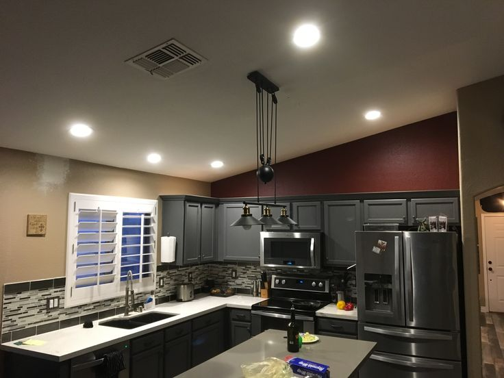 158 best az recessed lighting installations images on pinterest added one led over sink for positioning installed new switch to power leds added a double stack switch and new switch line to recessed light over the mozeypictures Image collections