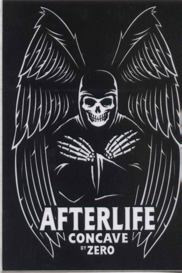 """Zero Skateboards Afterlife 3.5"""" Sticker.  Click on photo to purchase."""