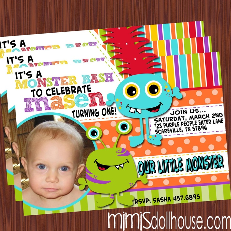 Monster Invitation Friendly Monster Invitation Monster Birthday invitation  PDFJPEG 1199