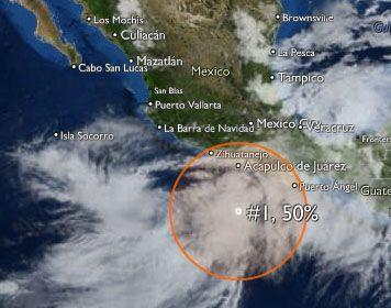 Clima en el Pacífico: Nueva formación ciclónica cerca de Acapulco