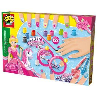 SES Creative Glitter Dreams: nagels versieren - roze  Deze schitterende SES Creative Glitter Dreams-set bevat twaalf kleuren nagellak glitters en diamantjes waarmee je prachtige glinsterende nagels kunt creëren!  EUR 12.99  Meer informatie