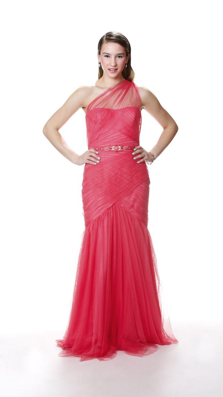 Rose/saumon robe de soirée. Parfait pour le bal