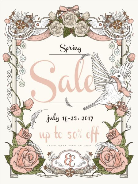 Spring sale poster with flowers vector 04 - https://gooloc.com/spring-sale-poster-with-flowers-vector-04/?utm_source=PN&utm_medium=gooloc77%40gmail.com&utm_campaign=SNAP%2Bfrom%2BGooLoc