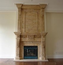 Stone fireplace & chimney marble & mantel, Stone fireplace & chimney marble & mantel direct from PFM Imp. & Exp. Co., Ltd. in China (Mainland)