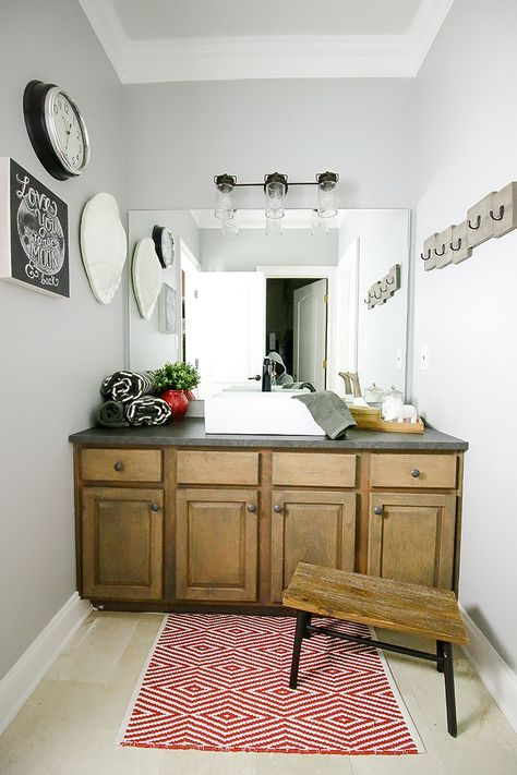 Best 25 refinished vanity ideas on pinterest - How to refinish a bathroom vanity ...