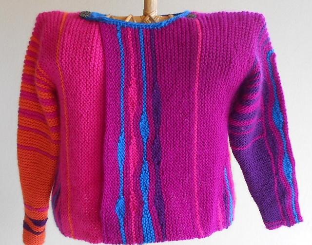 Ravelry: knitsabout's lava lamp sweater
