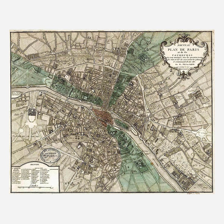 Plan de Paris 124 best Maps images