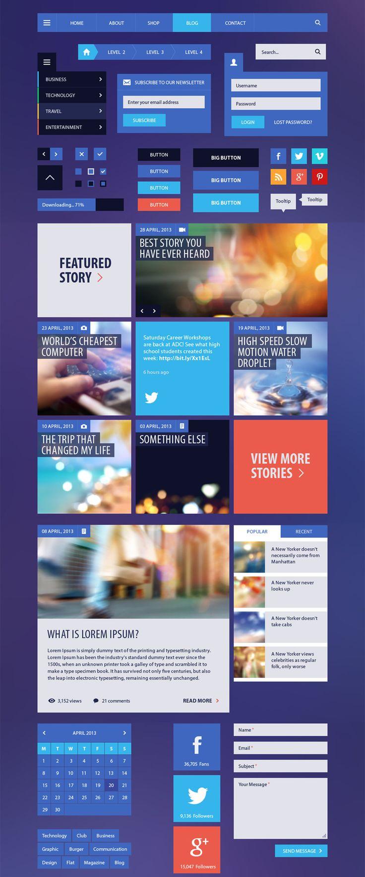 Webdesign ideen für Websites im Windows8 stil.