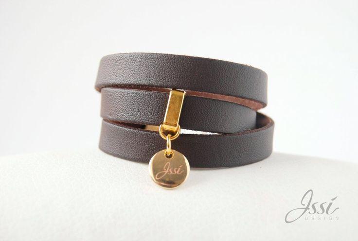 CHOCOLATE BELT (proj. Issi design) bracelet leather