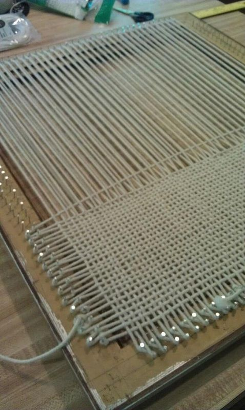 How to make a loom, and then use it to weave a 4-count fabric DIY - Craft Project