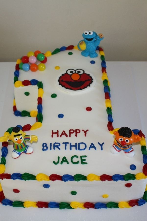 Sesame Street 1st Birthday Cake