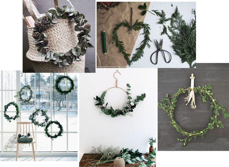 Christmas wreaths @Kreavilla Mangler du stadig lidt julestemning og pynt? Så var det måske en idé at lave en simple krans. De er ret populære i denne sæson og ganske forståeligt, da de både er dekorative og nemme at lave. Se hvordan på bloggen.