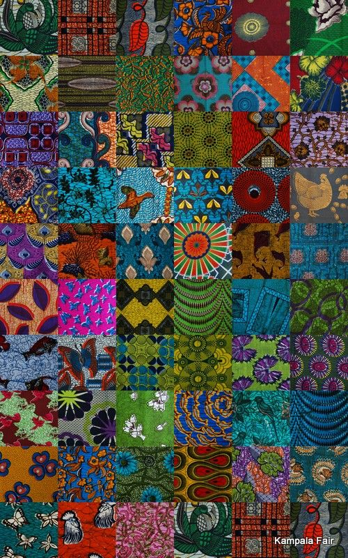 African print fabric. Been collecting African fabrics - think I might separate the blocks with a black border