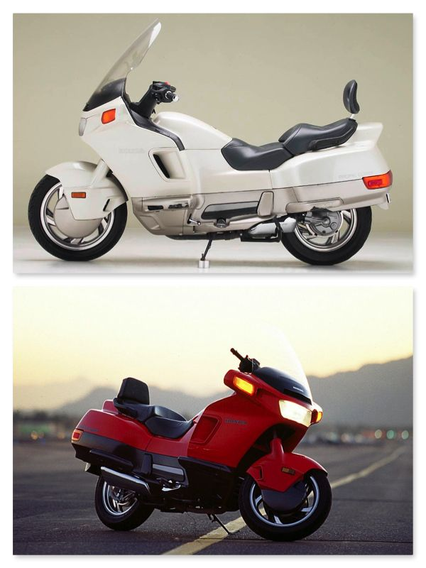 I owned this bike in black. Really fun, comfortable bike for short hauls. Honda Pacific Coast 800 (PC 800)