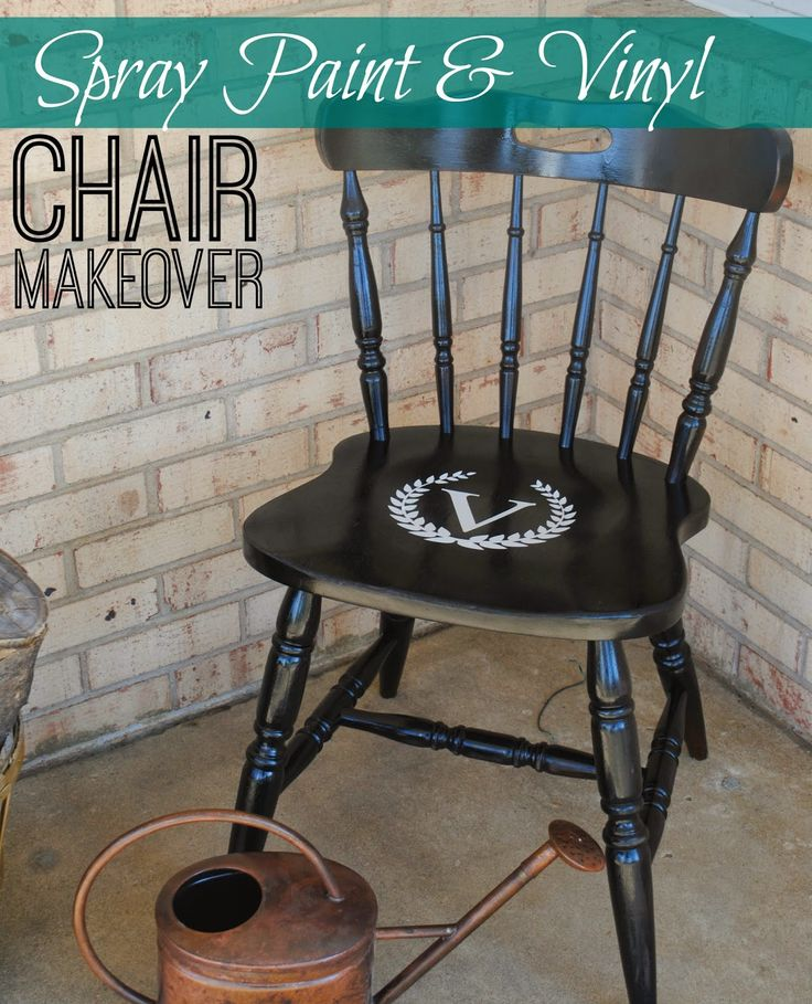 Two it yourself wood chair makeover with spray paint for Spray paint makeovers