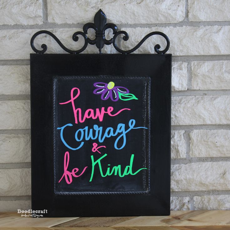 Chalkboard Wall Art with Neon Chalk Markers!