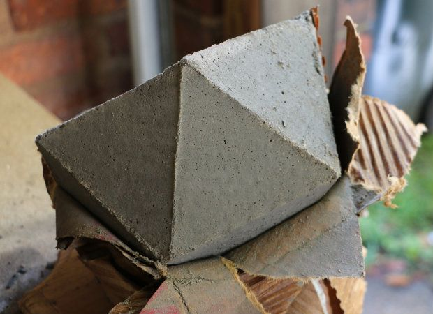 DIY Geometric Concrete Mold — full tutorial & template!