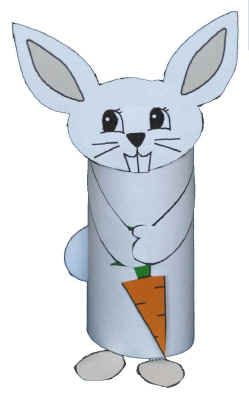 Bunny craft to along with book ABC Bunny