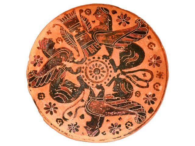 Greek Vases: Discoid Lid (Image) | University of Melbourne eshowcase