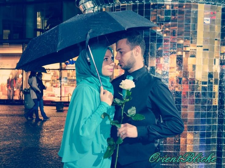 Isra from Orientblicke (youtube) and her husband: A lovely Muslim couple.