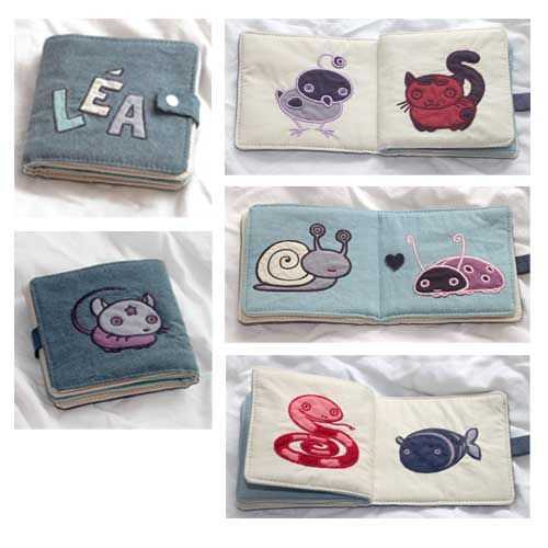 Just tutorials: Sewing a fabric book for baby