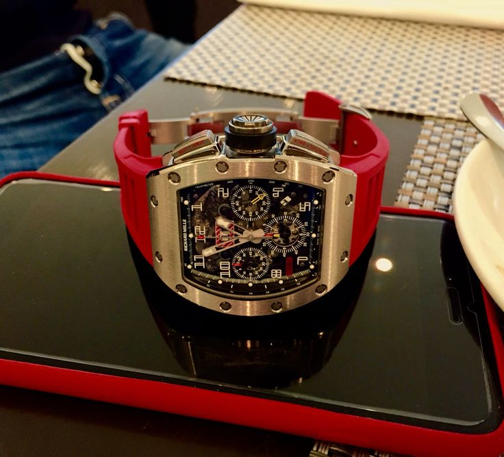 Richard Mille on red rubber strap