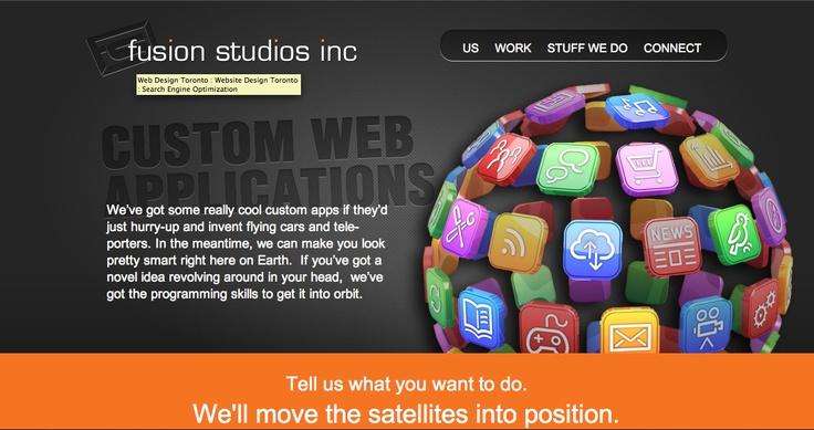 Custom Web Applications page Fusion Studios.