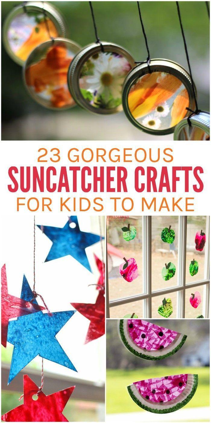 DIY Craft: 23 Gorgeous Suncatcher Crafts for Kids