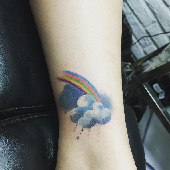 Best 25+ Rainbow Tattoos Ideas On Pinterest