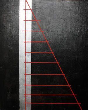 "Saatchi Art Artist Katarzyna Sztejn; Painting, ""The ladder to climb above"" #art"