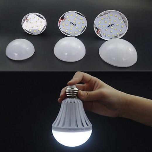1pc Portable Smart Led Emergency Light Bulb Rechargeable Intelligent Night Lamps No White China Plastic