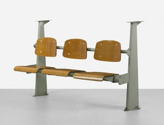 Amphitheater seating, Manufactured by Les Ateliers Jean Prouvé, France, 1950